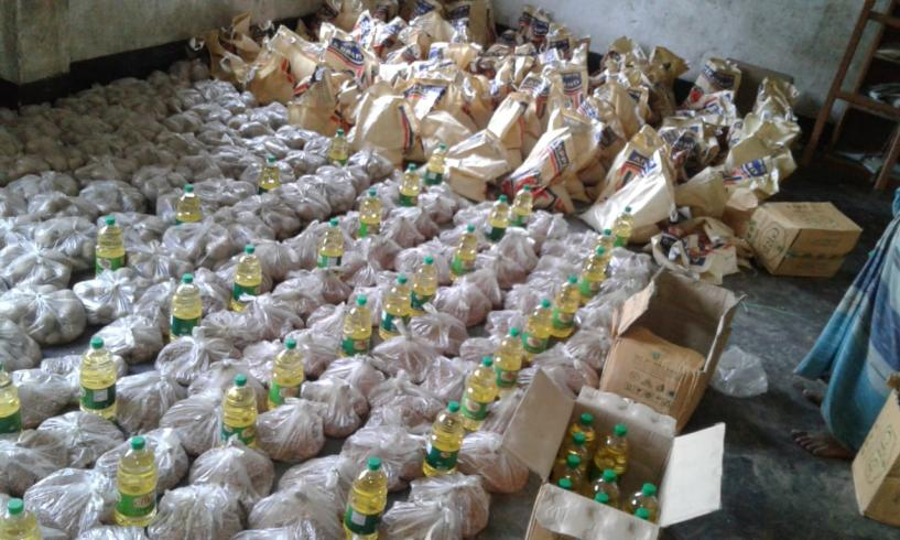 Covid-19 food distribution.
