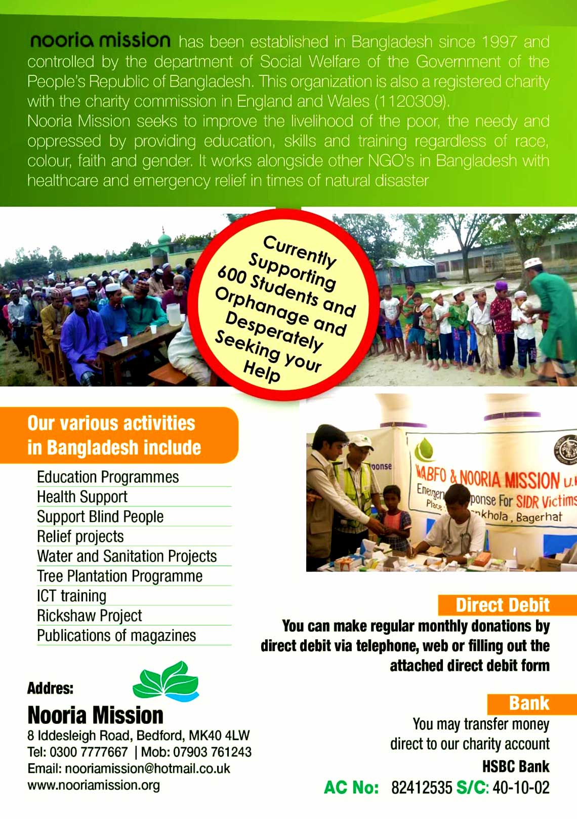 Nooria Mission Leaflet